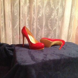 Kelsi by Kelsi Dagger Red Patent Leather Heels